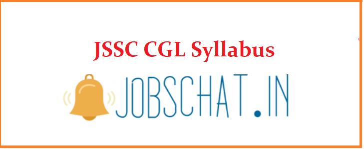 JSSC CGL Syllabus 2019
