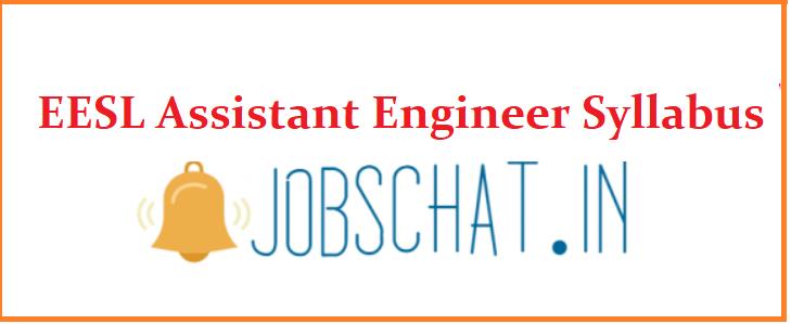 EESL Assistant Engineer Syllabus