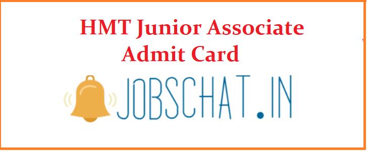HMT Junior Associate Admit Card 2019
