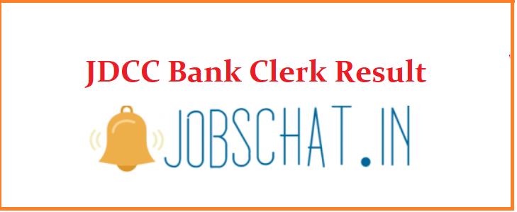 JDCC Bank Clerk Result 2019