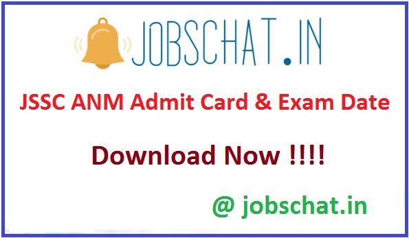 JSSC ANM Admit Card