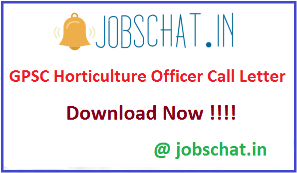 GPSC Horticulture Officer Call Letter
