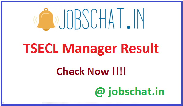 TSECL Manager Result