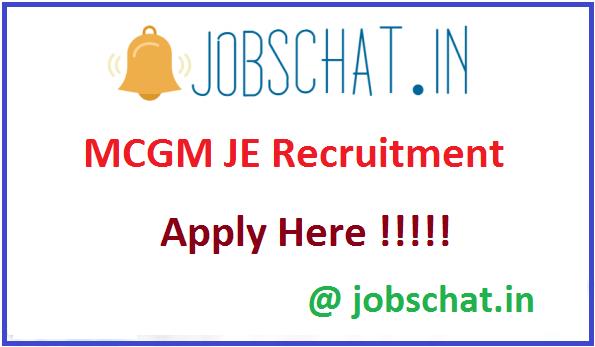 MCGM JE Recruitment