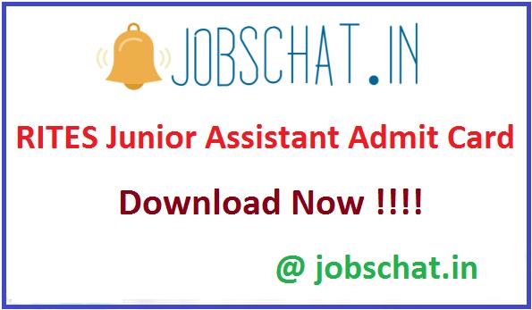 RITES Junior Assistant Admit Card