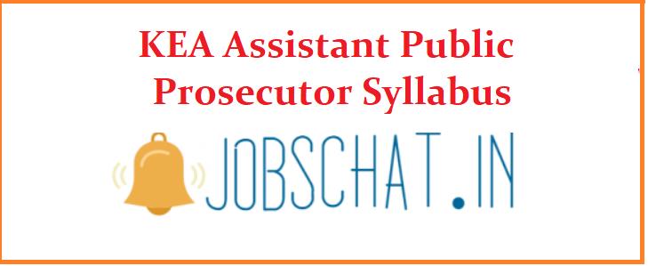 KEA Assistant Public Prosecutor Syllabus 2019