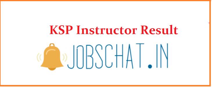 KSP Instructor Result