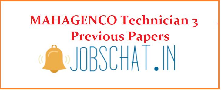 MAHAGENCO Technician 3 Previous Papers