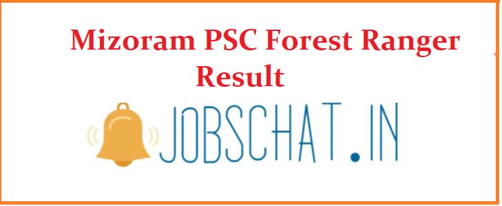 Mizoram PSC Forest Ranger Result 2019