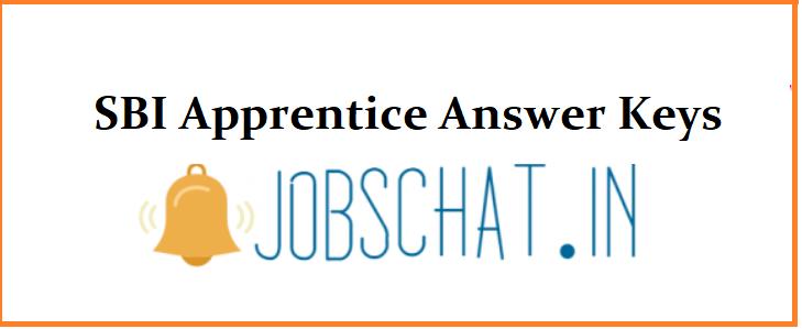 SBI Apprentice Answer Keys