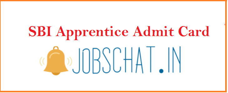 SBI Apprentice Admit Card 2019
