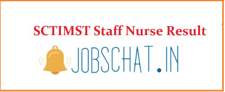 SCTIMST Staff Nurse Result