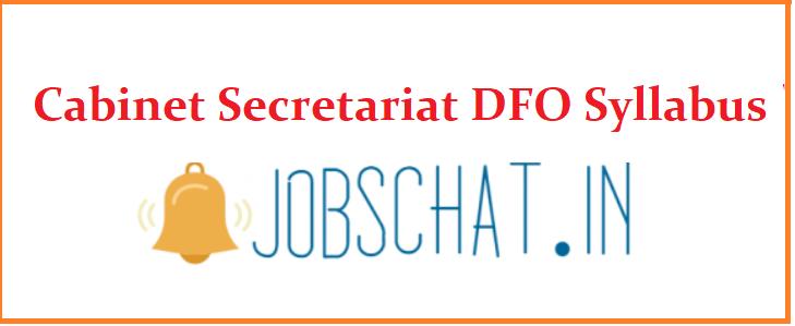 Cabinet Secretariat DFO Syllabus