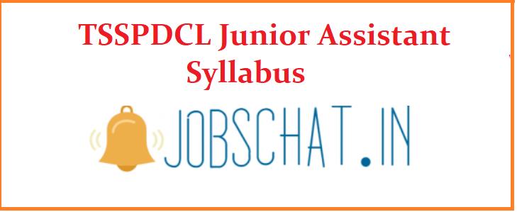 TSSPDCL Junior Assistant Syllabus 2019
