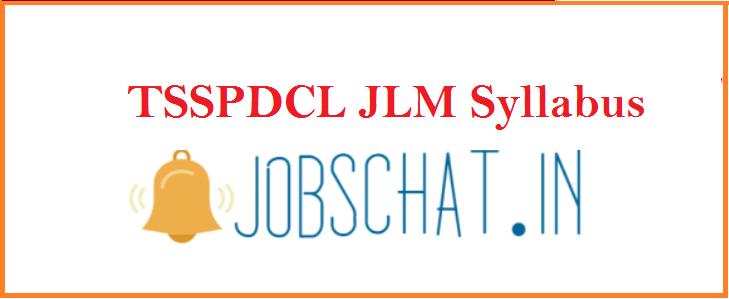 TSSPDCL JLM Syllabus 2019