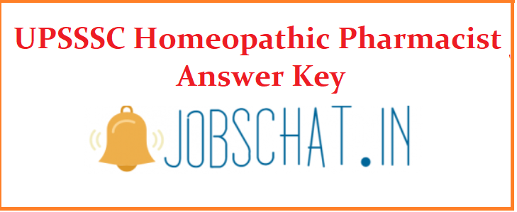 UPSSSC Homeopathic Pharmacist Answer Key
