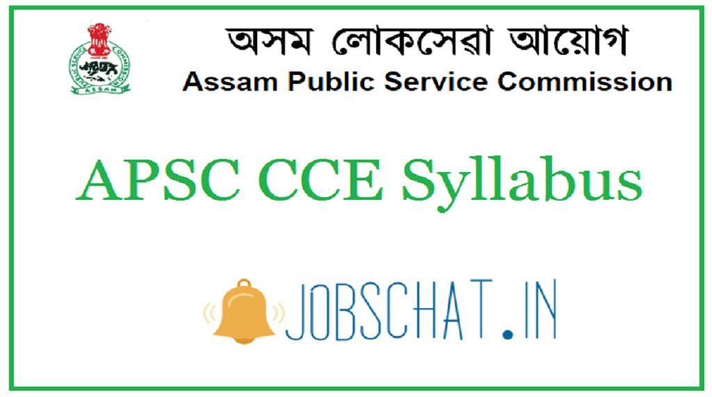 APSC CCE Syllabus