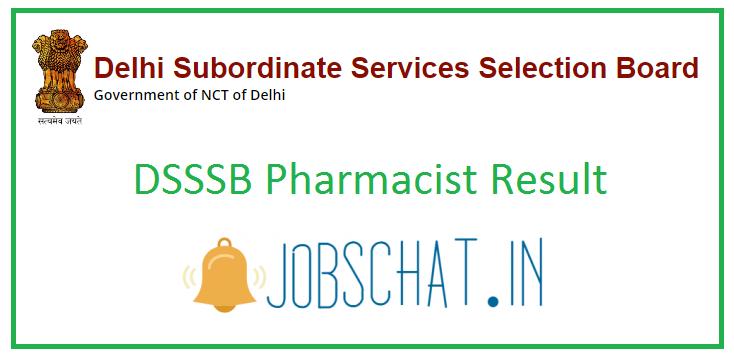 DSSSB Pharmacist Result