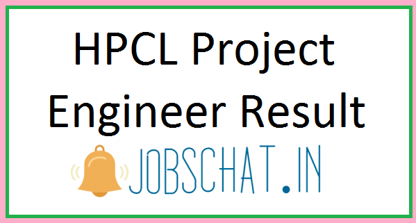 HPCL Project Engineer Result