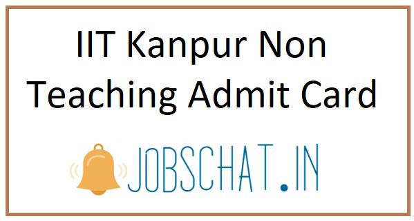 IIT Kanpur Non Teaching Admit Card