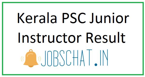 Kerala PSC Junior Instructor Result