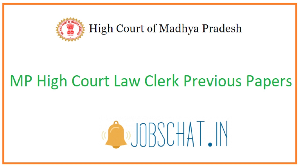MP High Court Law Clerk Previous Papers