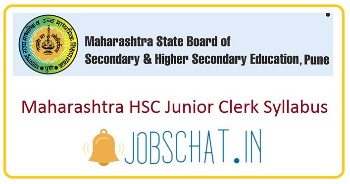 Maharashtra HSC Junior Clerk Syllabus