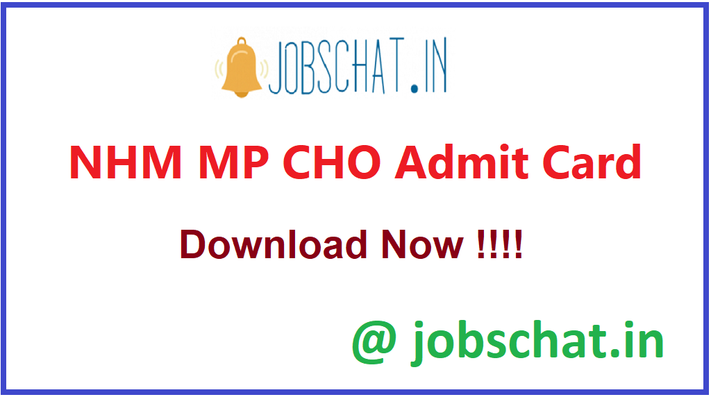 NHM MP CHO Admit Card
