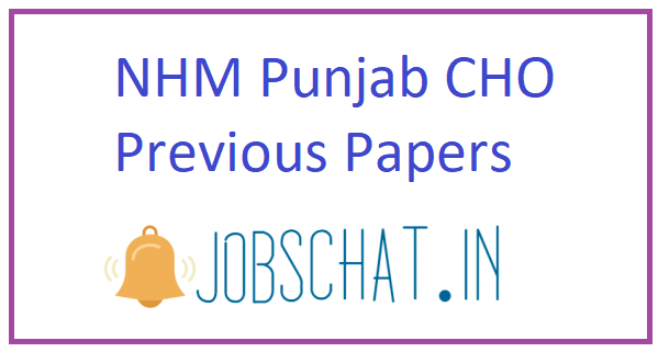 NHM Punjab CHO Previous Papers