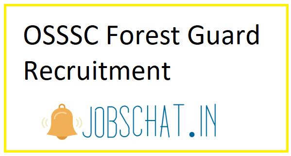 OSSSC Forest Guard Recruitment