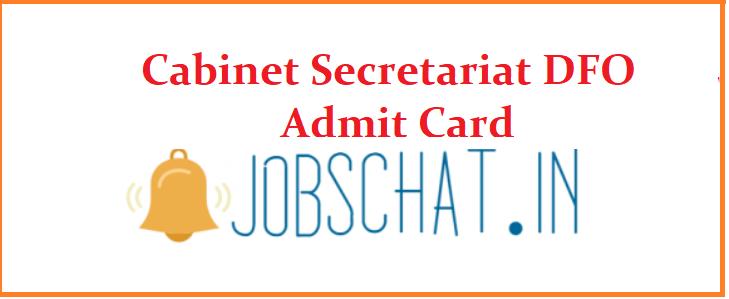 Cabinet Secretariat DFO Admit Card