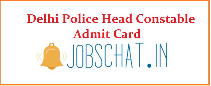 Delhi Police Head Constable Admit Card