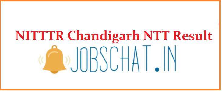 NITTTR Chandigarh NTT Result