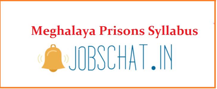 Meghalaya Prisons Syllabus