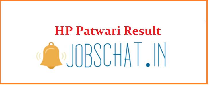 HP Patwari Result