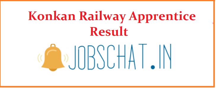 Konkan Railway Apprentice Result