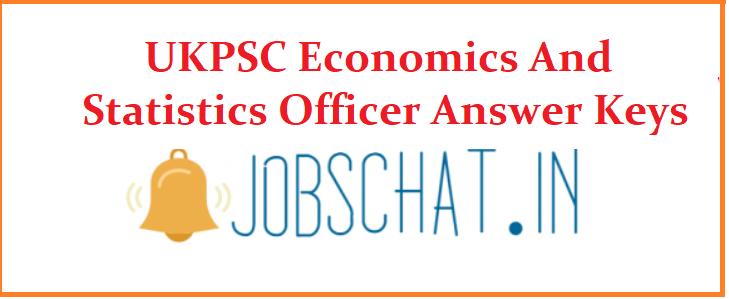 UKPSC Economics And Statistics Officer Answer Keys