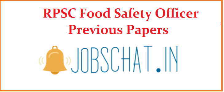 RPSC Food Safety Officer Previous Papers