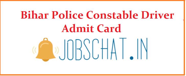 Bihar Police Constable Driver Admit Card
