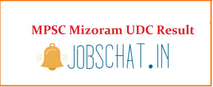 MPSC Mizoram UDC Result
