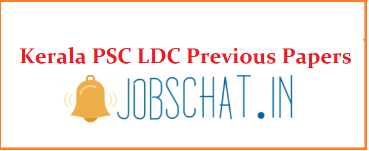 Kerala PSC LDC Previous Papers