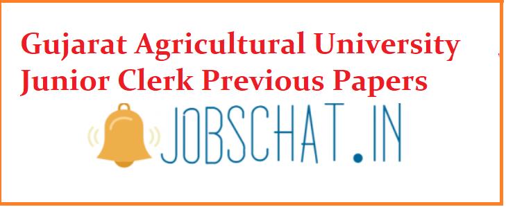 Gujarat Agricultural University Junior Clerk Previous Papers