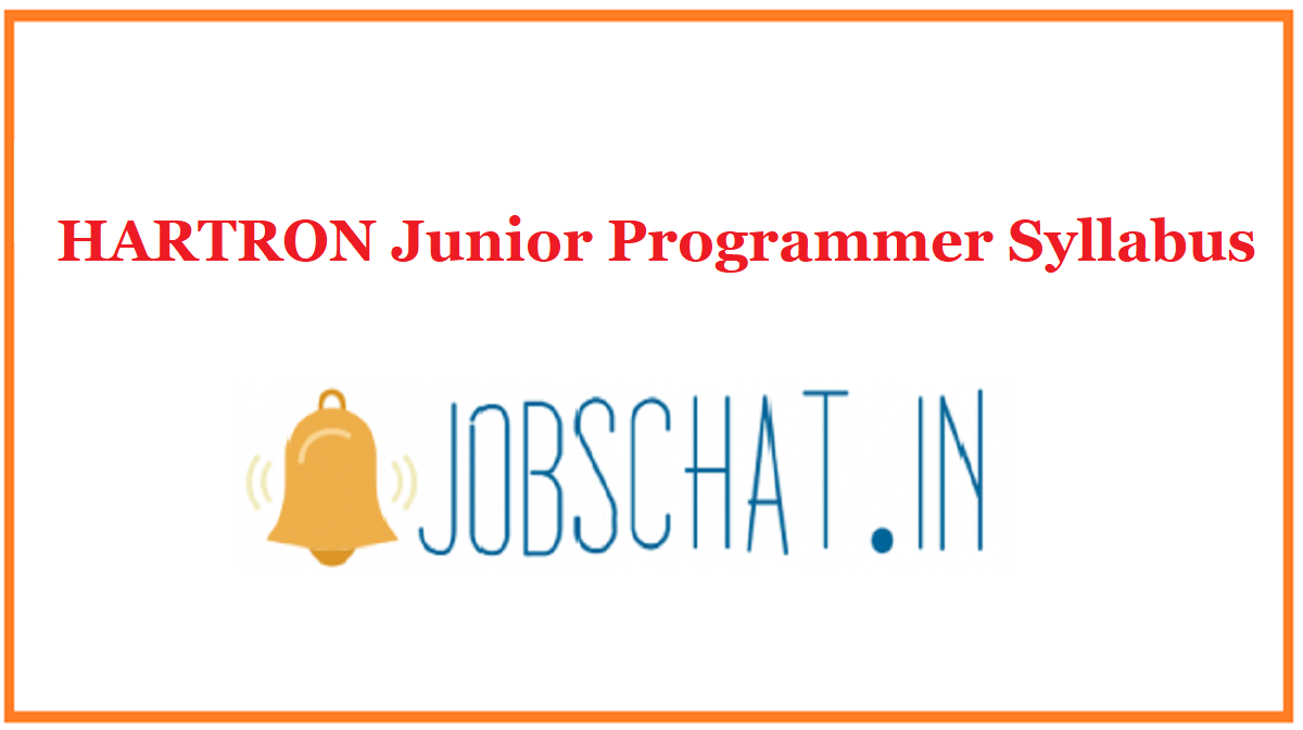 HARTRON Junior Programmer Syllabus