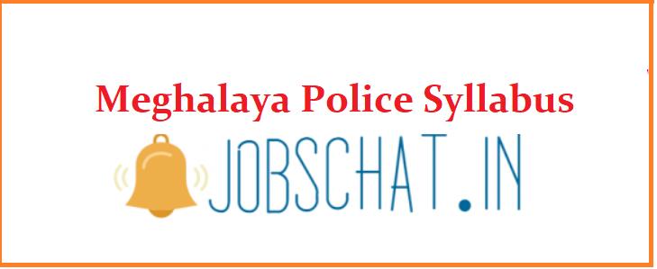 Meghalaya Police Syllabus