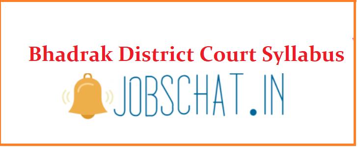 Bhadrak District Court Syllabus