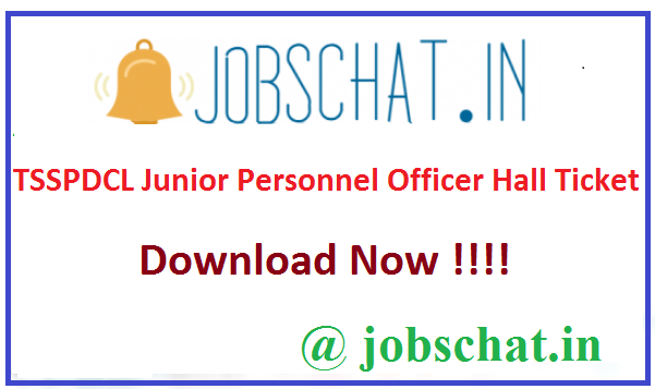 TSSPDCL Junior Personnel Officer Hall Ticket