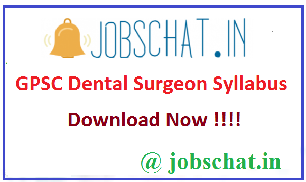 GPSC Dental Surgeon Syllabus