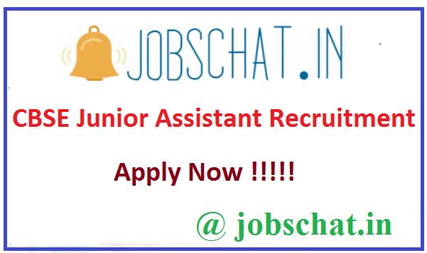 CBSE Junior Assistant Recruitment