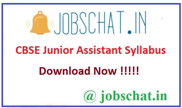 CBSE Junior Assistant Syllabus