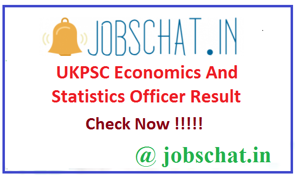 UKPSC Economics And Statistics Officer Result